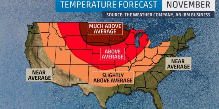 November temperature outlook