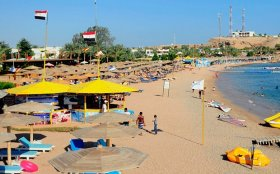 an over-all view for a coastline in Sharm el-Sheikh, Egypt
