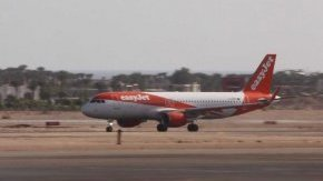 an airplane of Uk flight company Easyjet will be taking off at the airport of Sharm el-Sheikh, Egypt's Red Sea resort