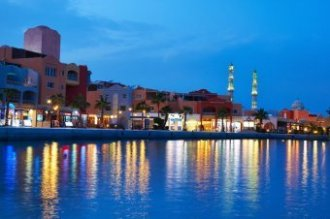Hurghada Marina during the night