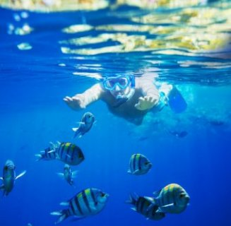Snorkelling at a negative balance water Hurghada